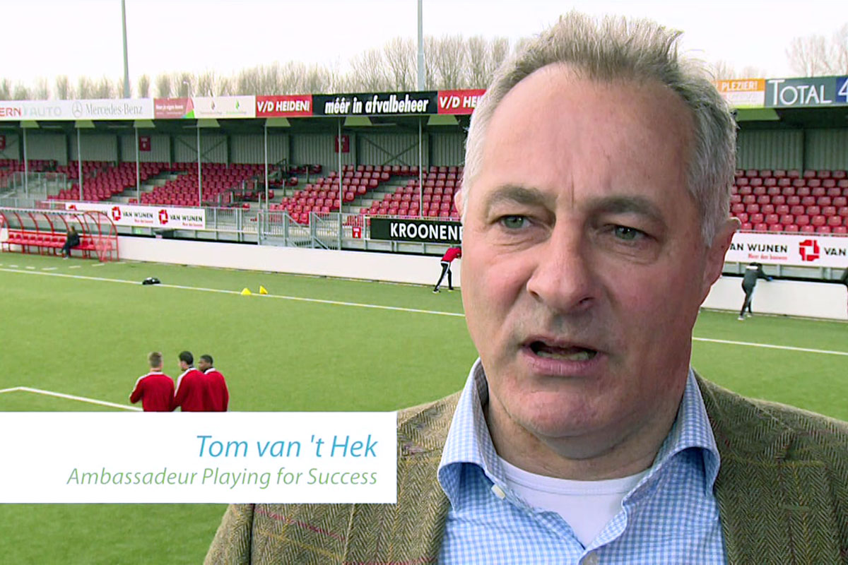 Tom Van 't Hek Ambassadeur Playing For Success